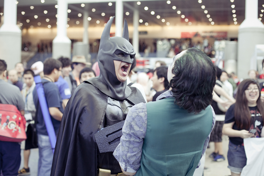 Batman and Joker cosplayers at Anime Expo 2013.