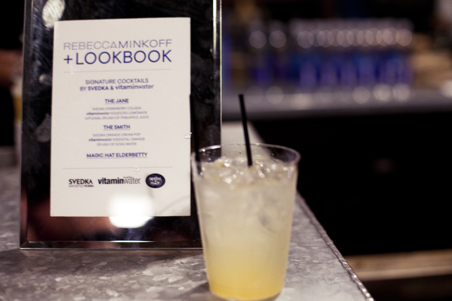 Drinks Menu at the Lookbook x Rebecca Minkoff Denim Launch Party at the Confederacy Boutique in Hollywood, Los Angeles.