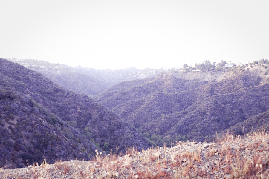 View from atop the Getty View Trailhead.