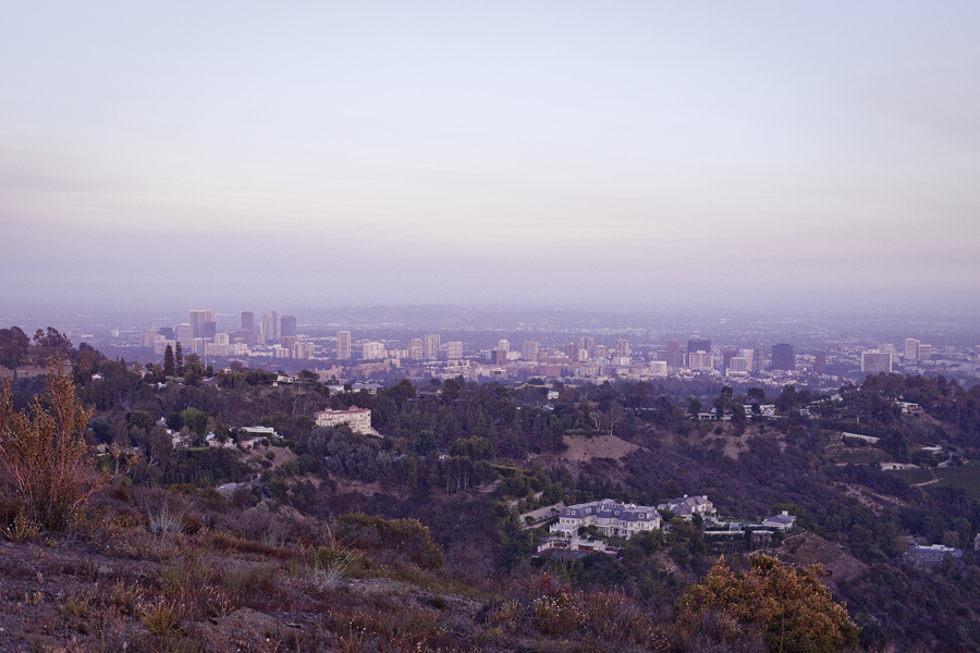 View of Los Angeles from atop the Getty View Trailhead.