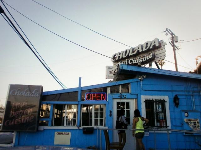 Facade of Cholada Thai Cuisine by Malibu Beach.