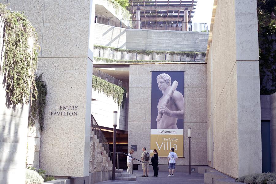 Entrance to the Getty Villa.