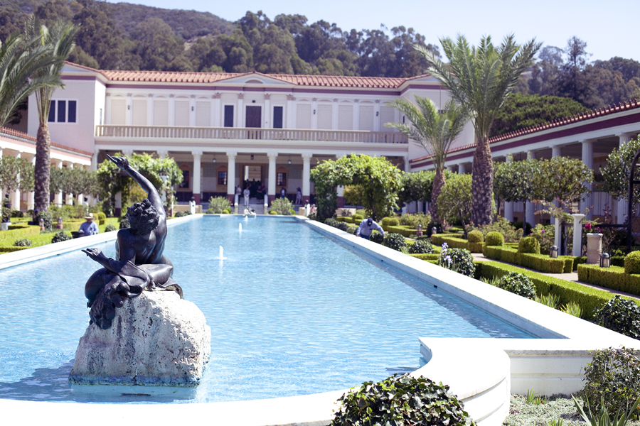 Garden at the Getty Villa.
