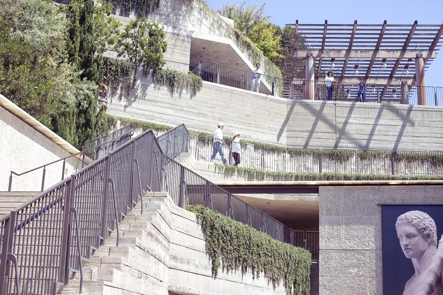 Architecture of the Getty Villa.