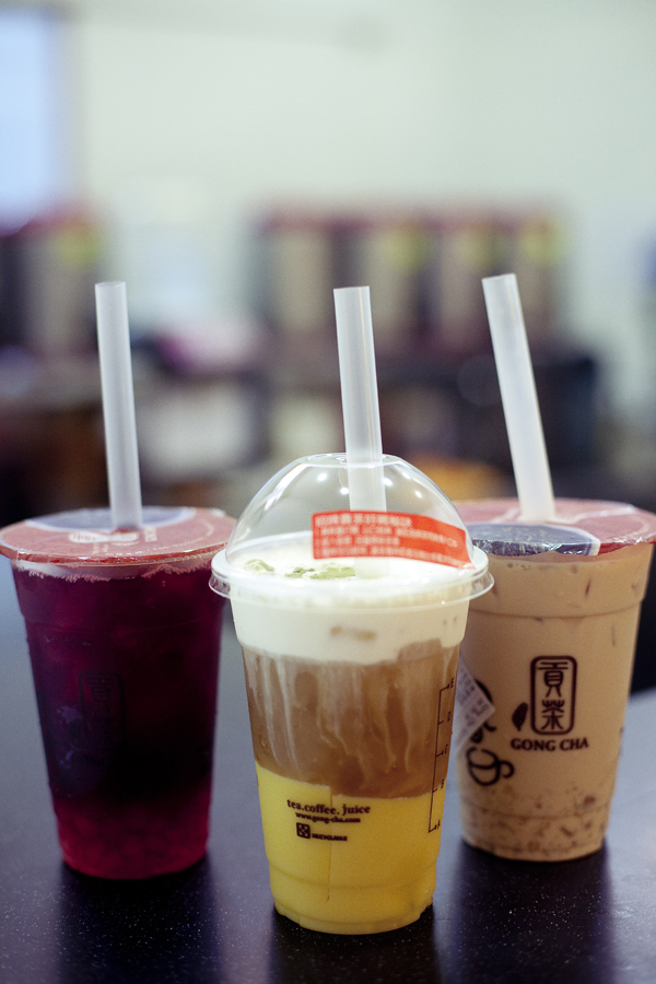 Bubble tea from Gong Cha.