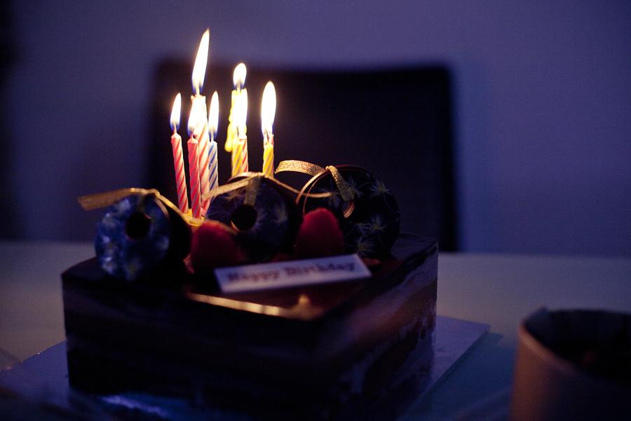 Birthday cake for Ren's 27th birthday.