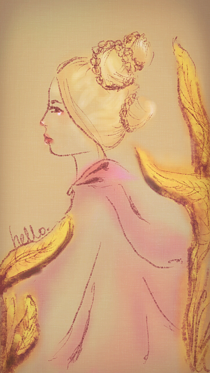 Sketch of the girl from The Moustache Birds by Ren.