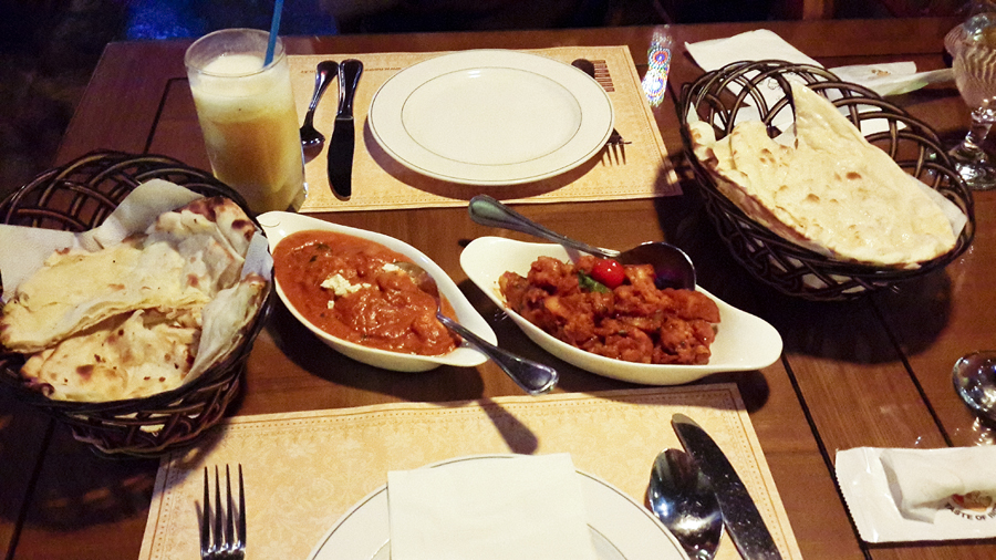 Dinner at Namaste: Taste of India in Busan, South Korea.