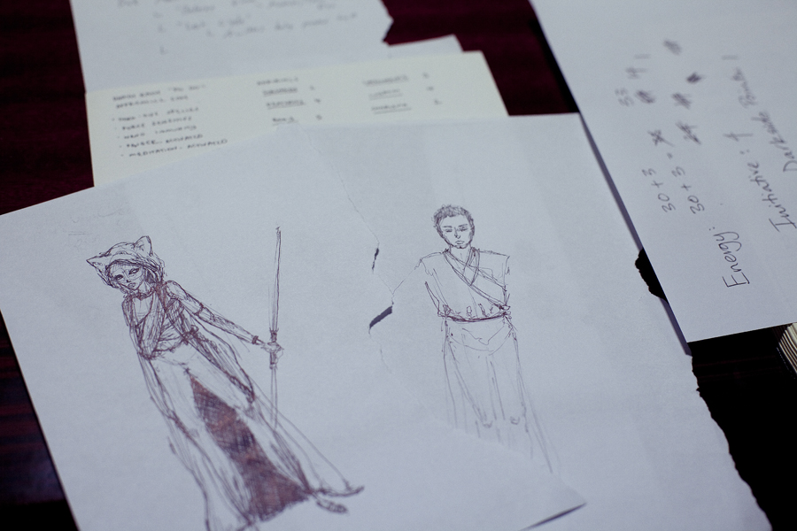 Sketches for a Role Playing Game.