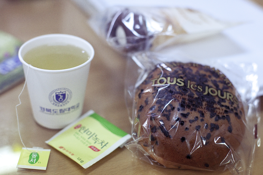 Bread from Tous les Jours given to me by Kwan Jang Nim.