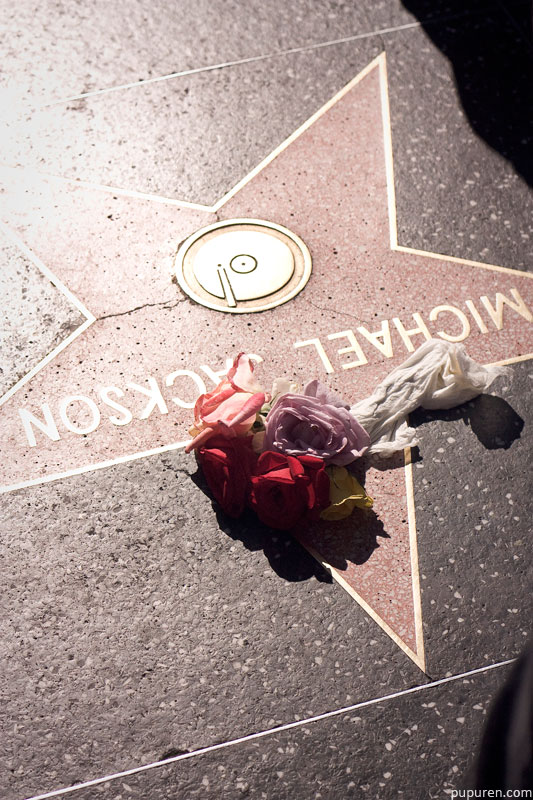Michael Jackson star at Hollywood Star Walk in Los Angeles.