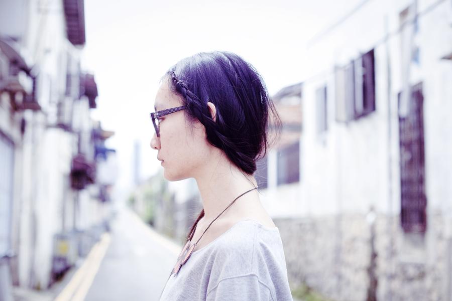 Portrait with side braid.