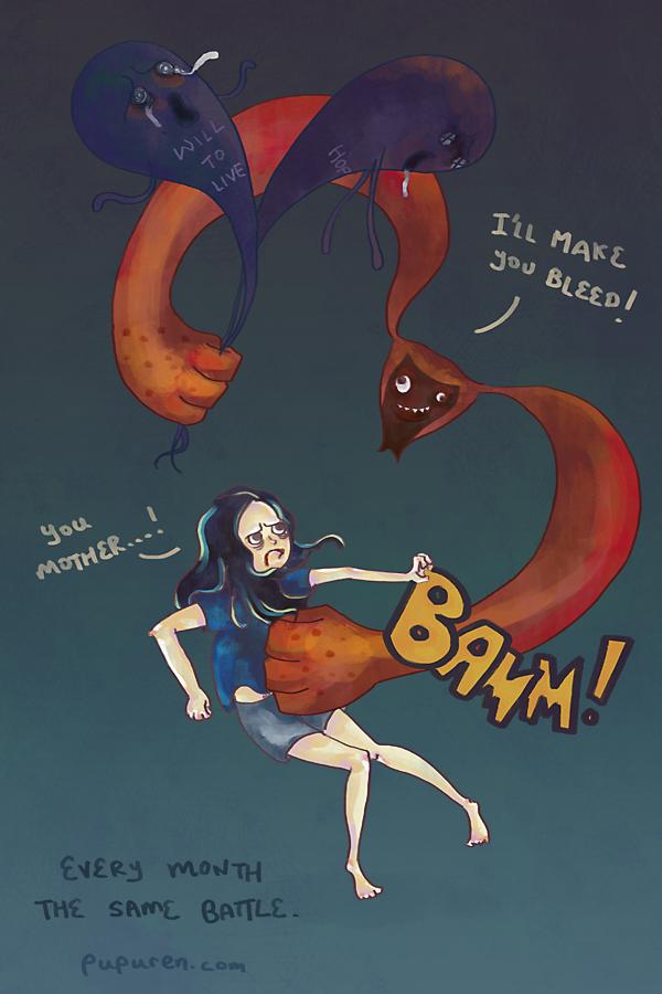 Evil Menstrual Comic