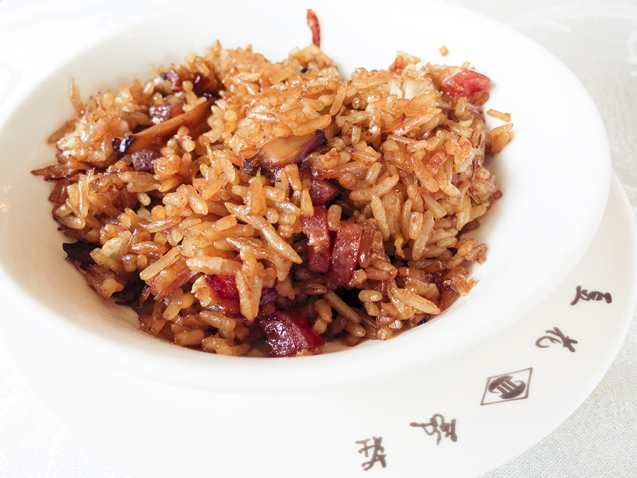 Fried Rice with Waxed Meat at Tian Fu Tea Room by Si Chuan Dou Hua in Singapore.