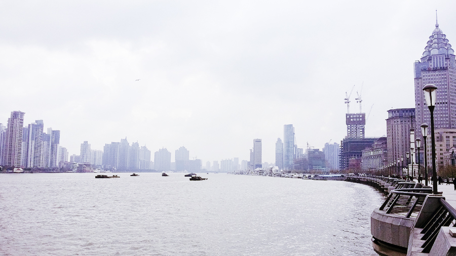 View of the Bund, Shanghai.