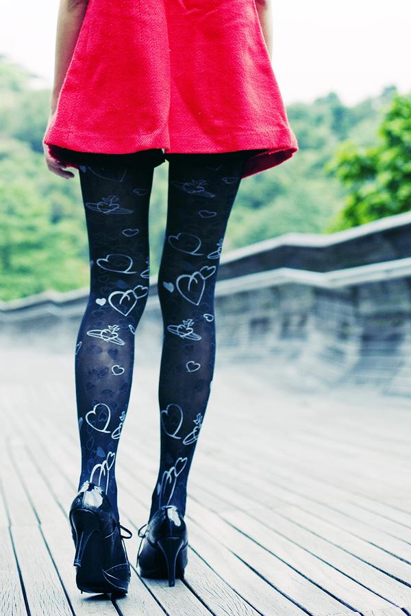 Vivienne Westwood black printed planet tights.