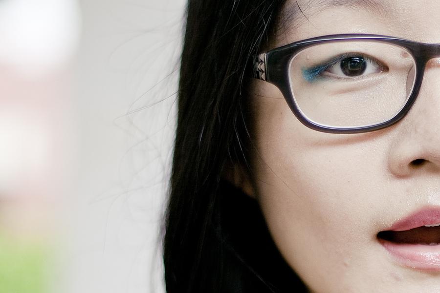 Blue eyeliner from Sephora.