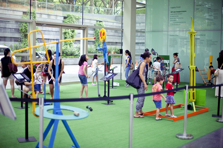 Interactive play area at the Masak Masak exhibit at the National Museum of Singapore.