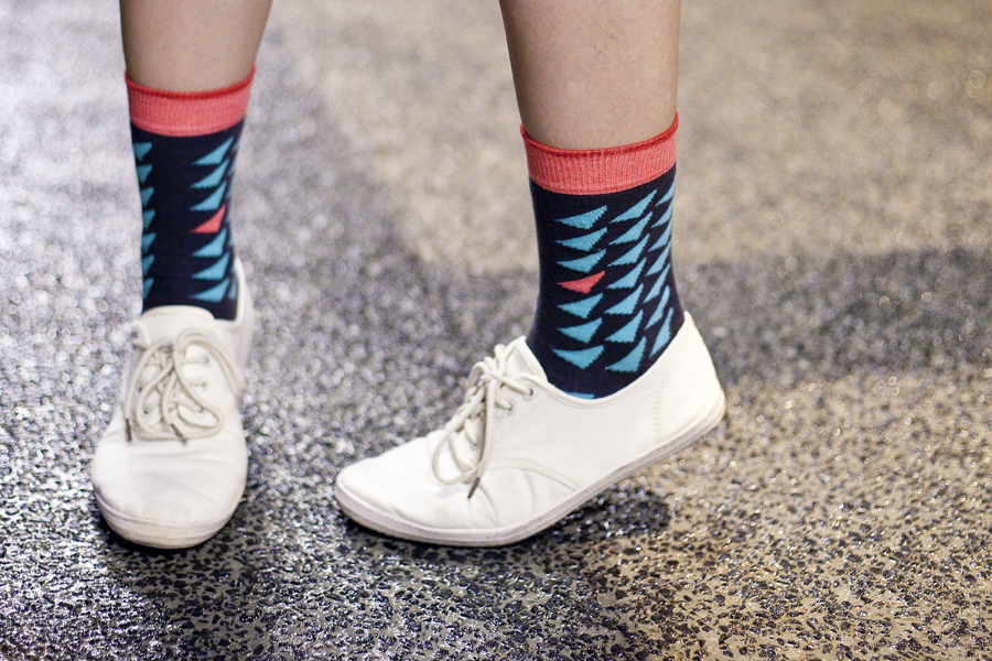 Outfit: Sammy Icon 'Pine Black' socks, Cotton On shoes.