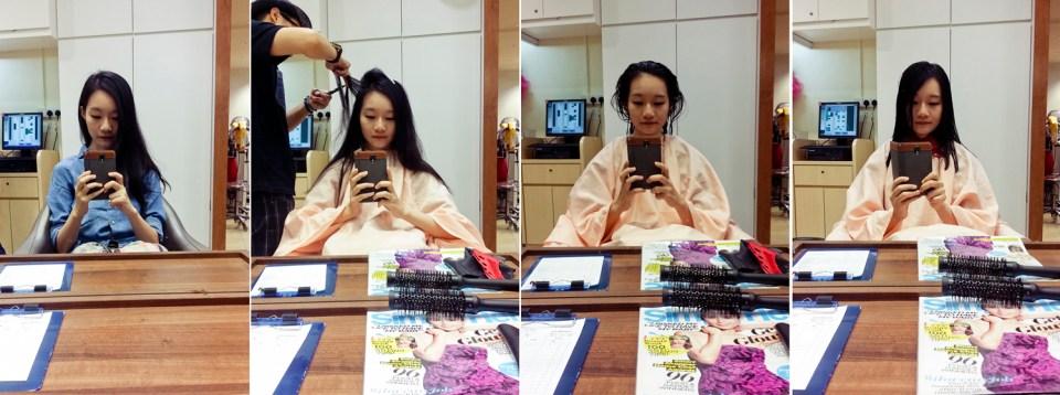 haircut at shunji matsuo collage