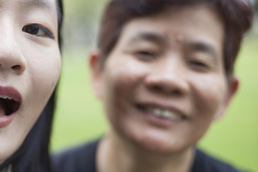 Selfie of Ren and Mum.