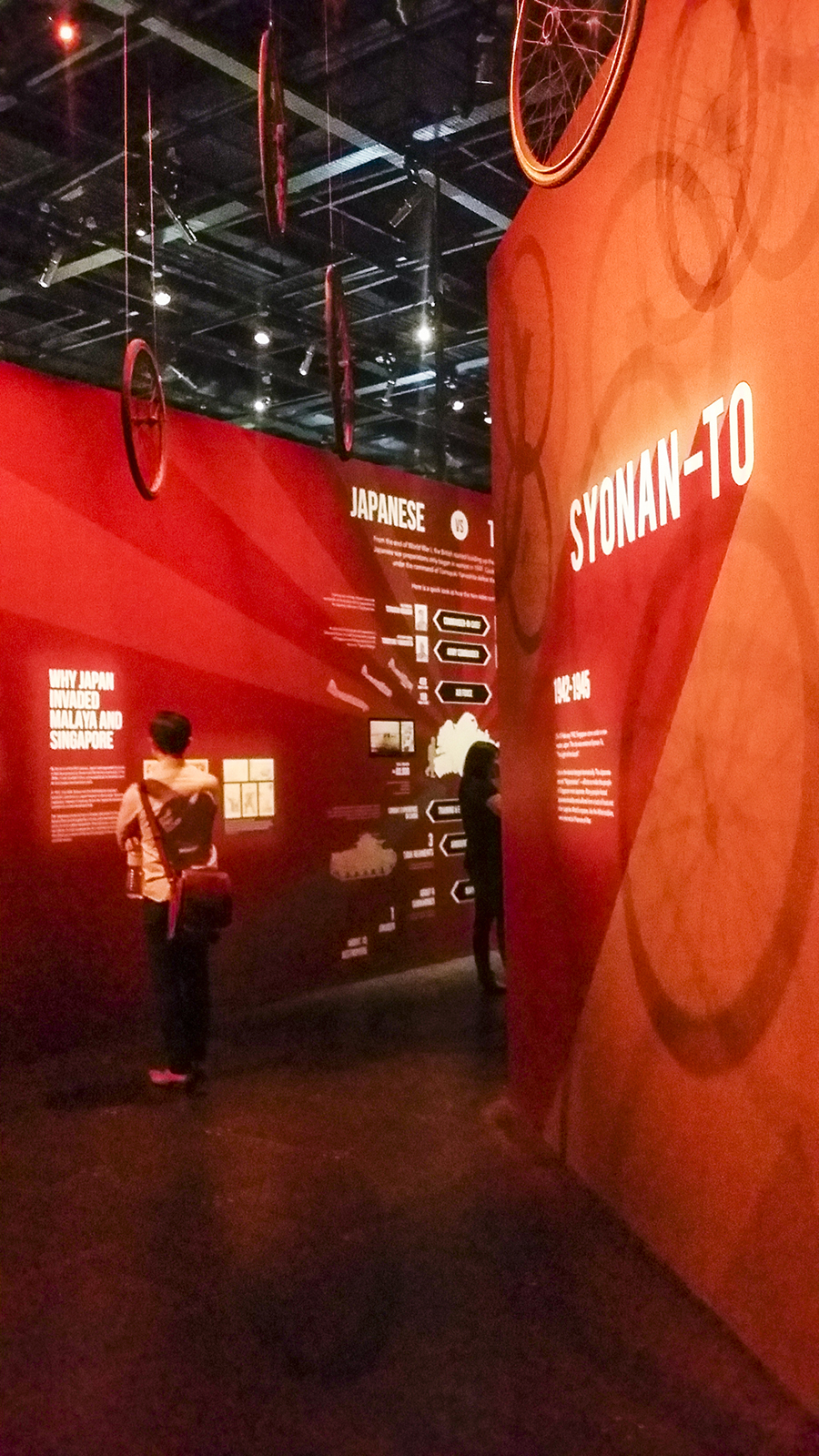 Japanese occupation period during World War II at the Singapura: 700 Years exhibition at the National Museum of Singapore.