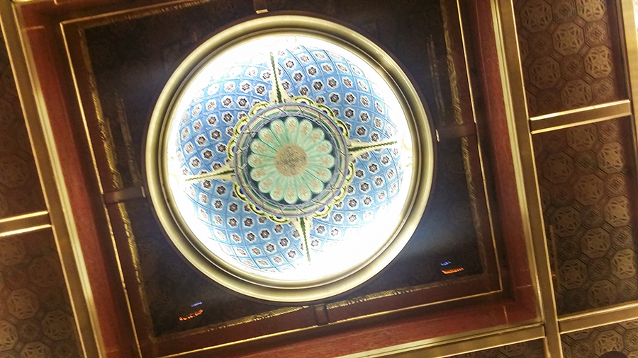 Roof of elevator at the Lotte Hotel, Myeongdong, Korea