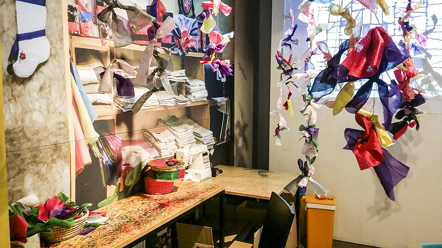 Textile activity at Seoul Comics Space Zaemirang at Zaemiro Seoul Comics Road, South Korea.