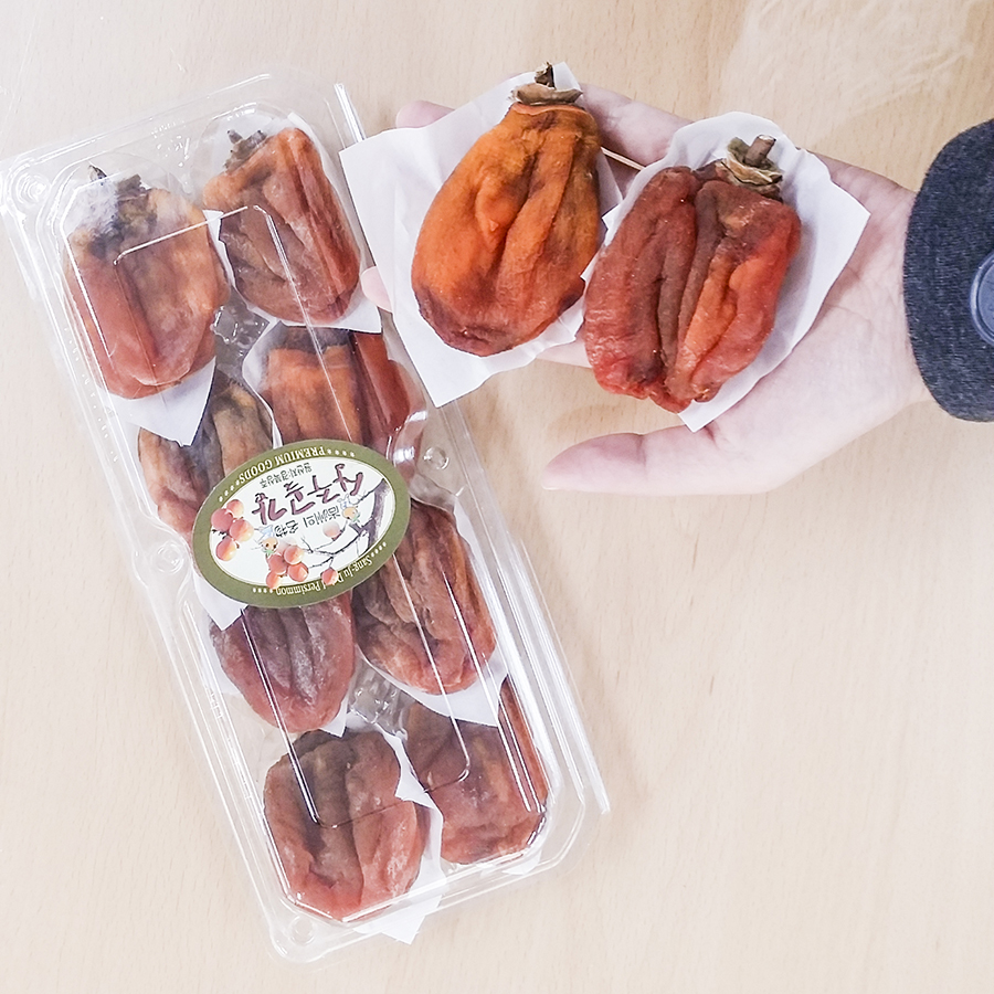Preserved persimmons, Sangju, South Korea.