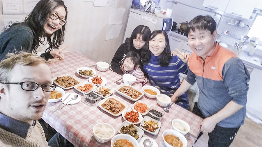 Homemade feast at Annie-sem's in Sangju, South Korea.