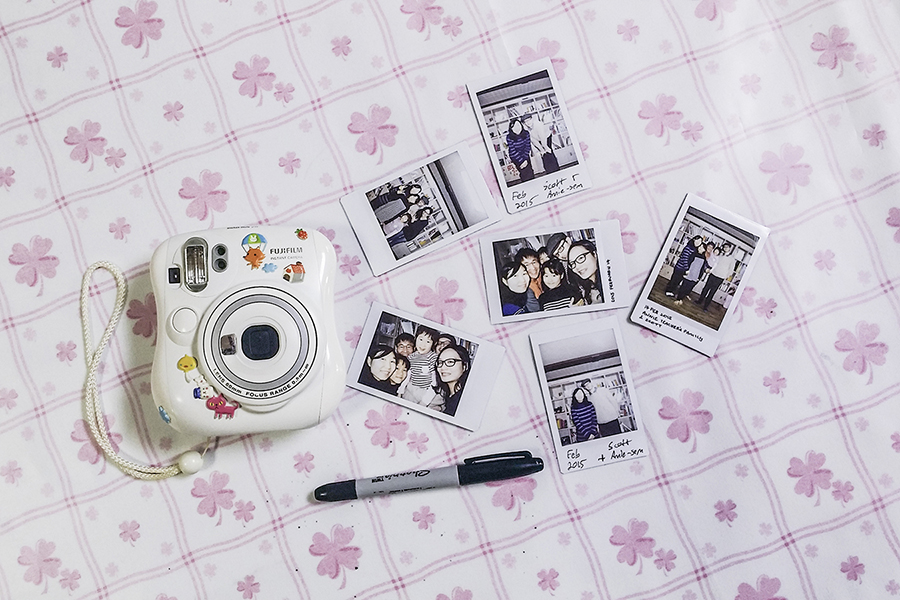 Fujifilm Instax photos at Annie-sem's in Sangju, South Korea.