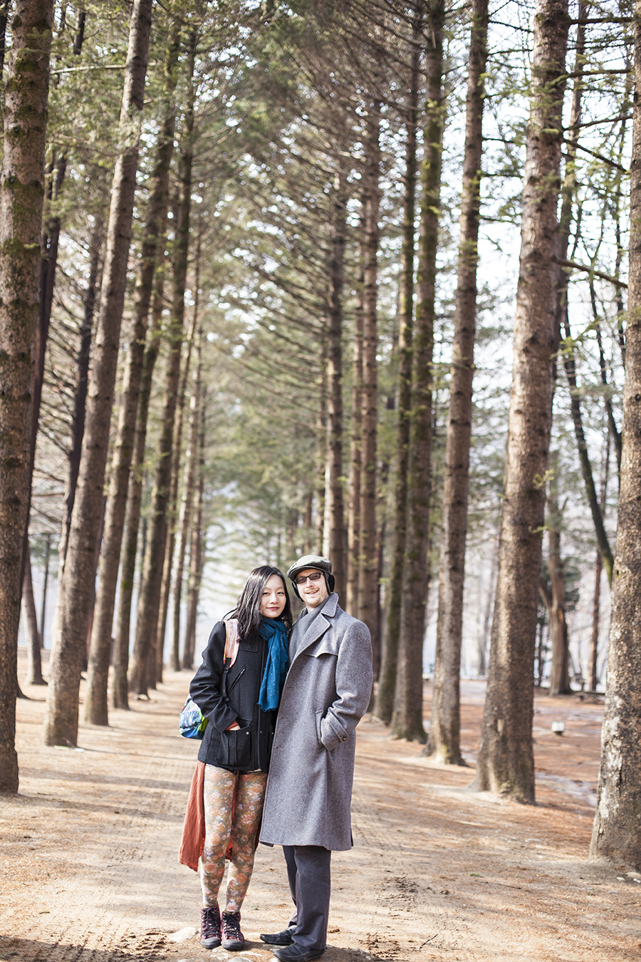 Picture of Ren & Ottie at Nami Island, Gapyeong, South Korea.