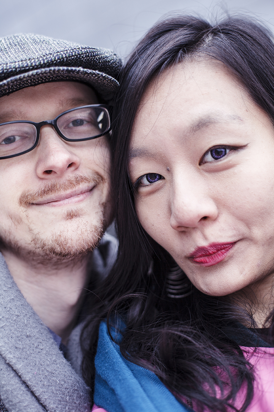Ottie and Ren Selfie at Dongdaemun Design Plaza, Seoul, South Korea.