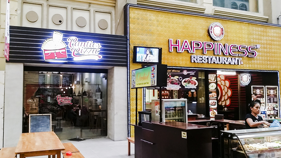 Panties Pizza and Happiness Restaurant at Nagoya Hill Shopping Center, Batam, Indonesia.
