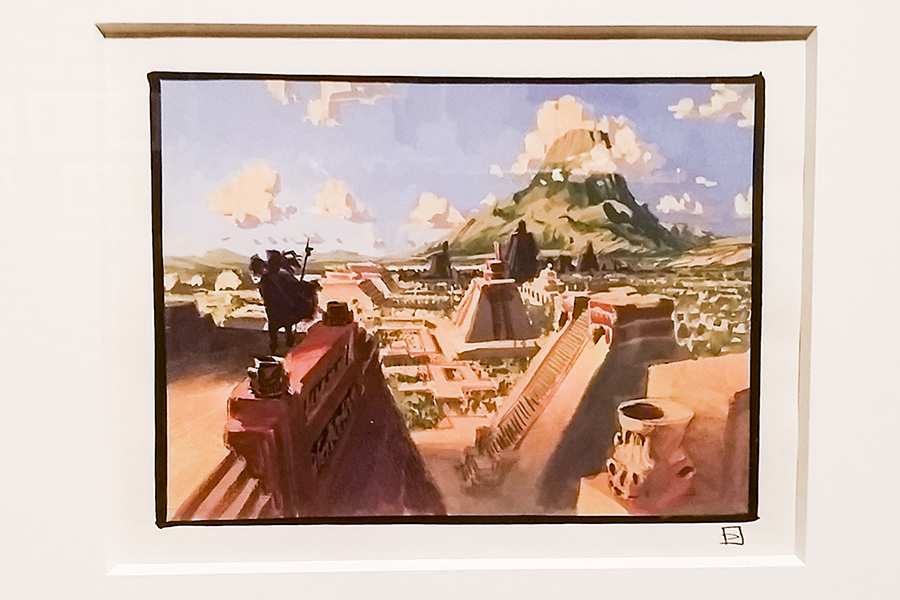 Acrylic painting for The Road to El Dorado, 2000 by Luc Desmarchelier at the DreamWorks Animation: The Exhibition at the ArtScience Museum in Marina Bay Sands, Singapore.