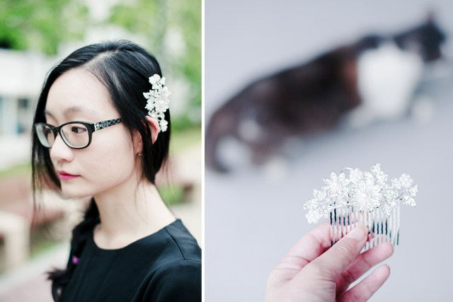 Styling an Irresistible Me Hera Hair Comb.