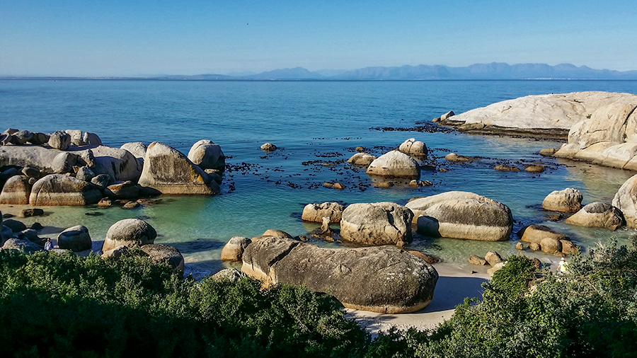 Boulders at Boulders Beach, Table Mountain National Park, Cape Town, South Africa.