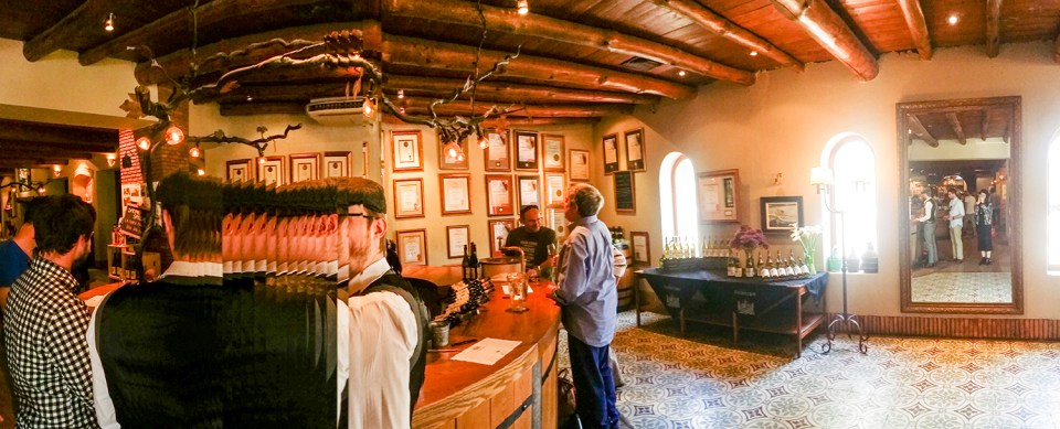 Wine tasting at Fairview Wine and Cheese, South Africa.