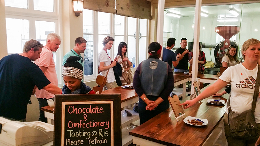 Chocolate tasting at Fairview Wine and Cheese, South Africa.