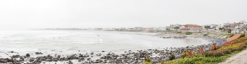 Panoramic view of Yzerfontein, South Africa.