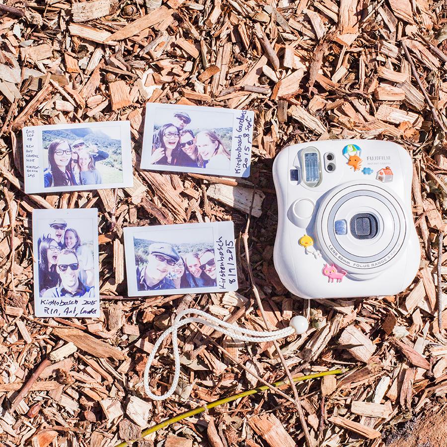 Fujifilm wefie flatlay at Kirstenbosch, South Africa.