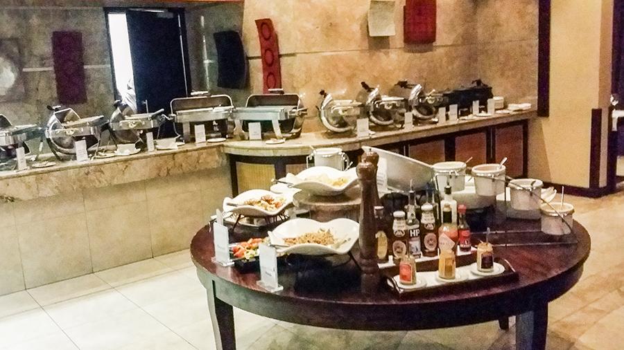 Buffet spread at Premier Hotel O.R. Tambo, Johannesburg.