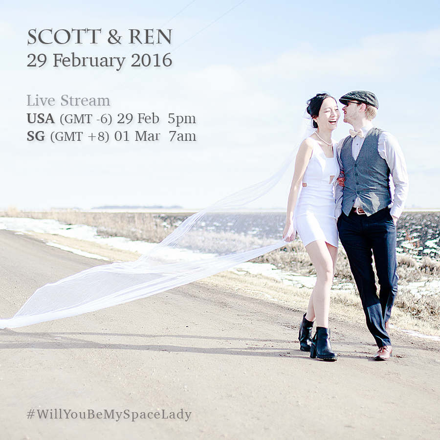 Winter Wedding Announcement Live Stream