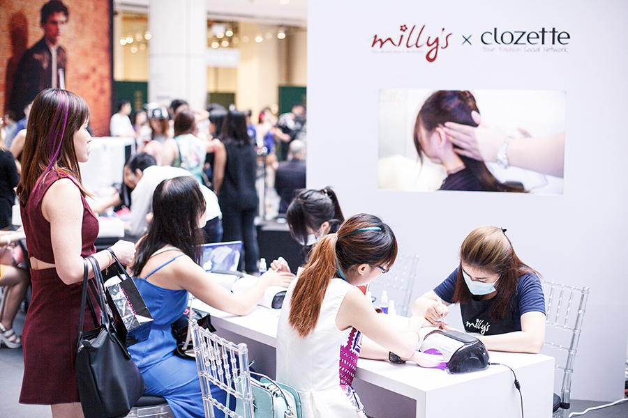 Milly's x Clozette booth at Clozette Style Party 2016 in Suntec City. #ClozetteStyleParty