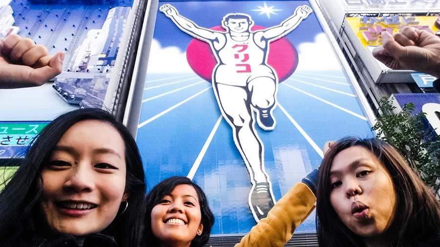 With Glico Man in Osaka, Japan.