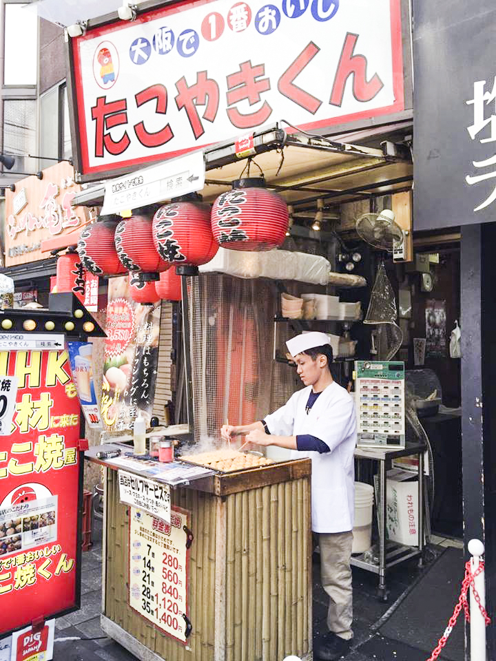 Takoyaki-kun stall in Osaka, Japan. Photo by Ruru.