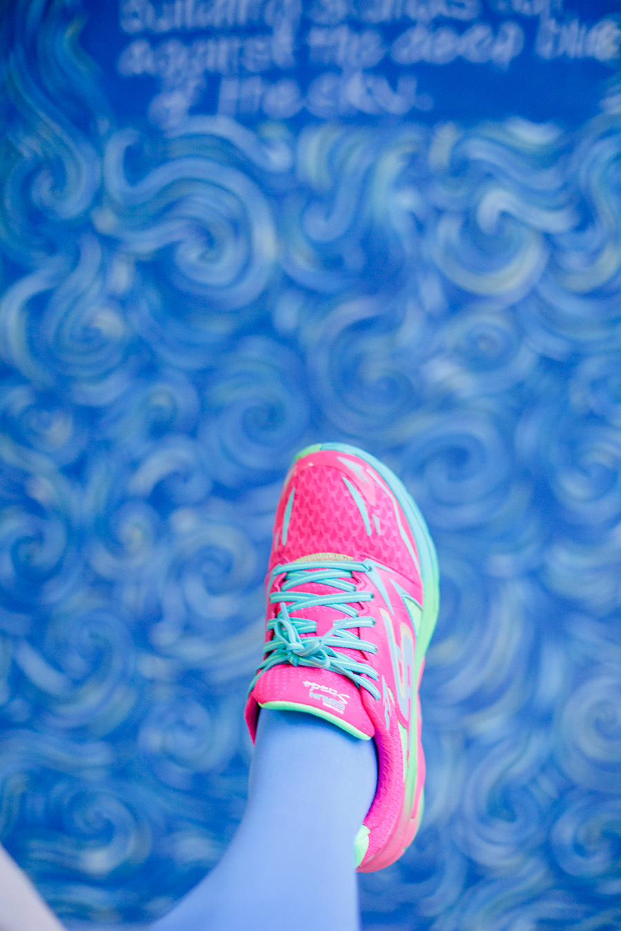 Void Deck Art Gallery: Homage to Vincent Van Gogh. Wearing Skechers neon pink sneakers.