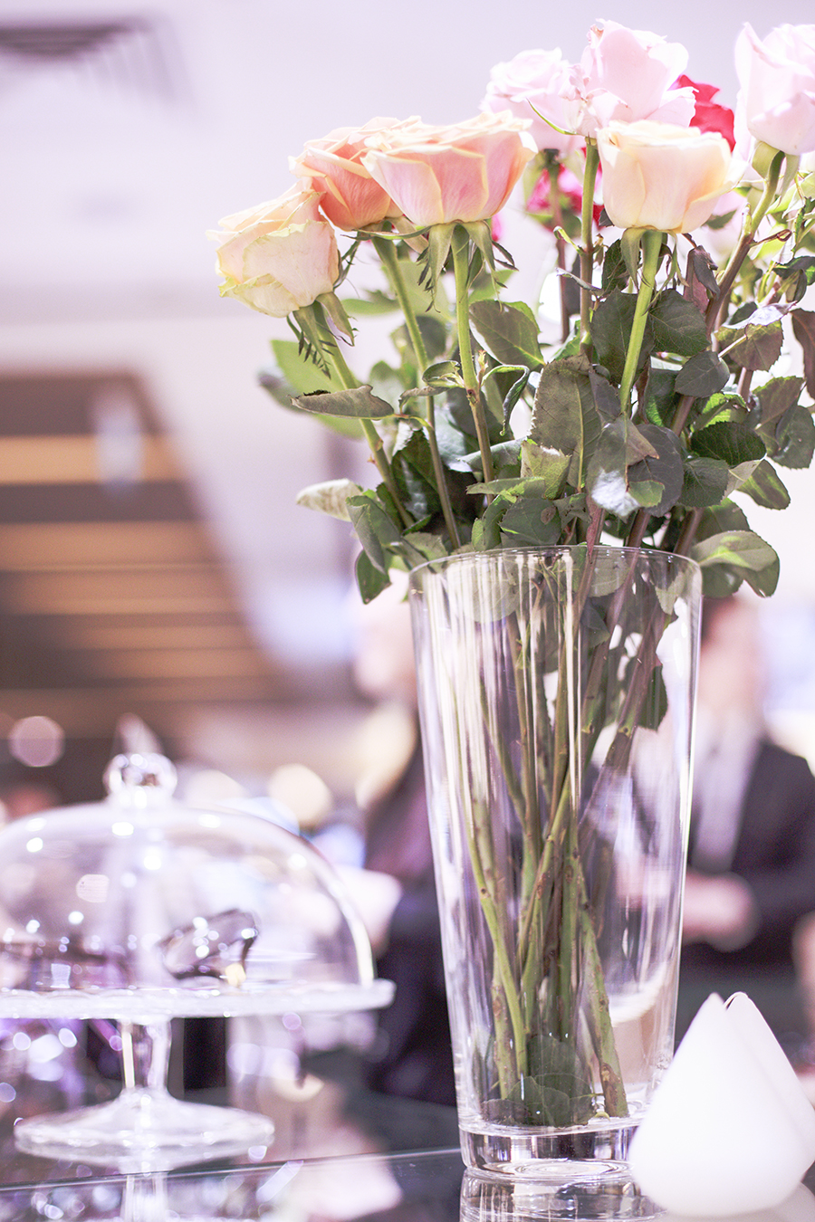 Decor and roses at the Her World x Optic Butler Event, Paragon, Singapore.