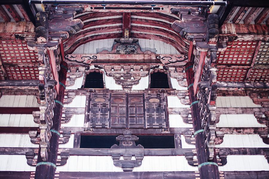 Architecture of Todaiji at Nara Park, Japan.