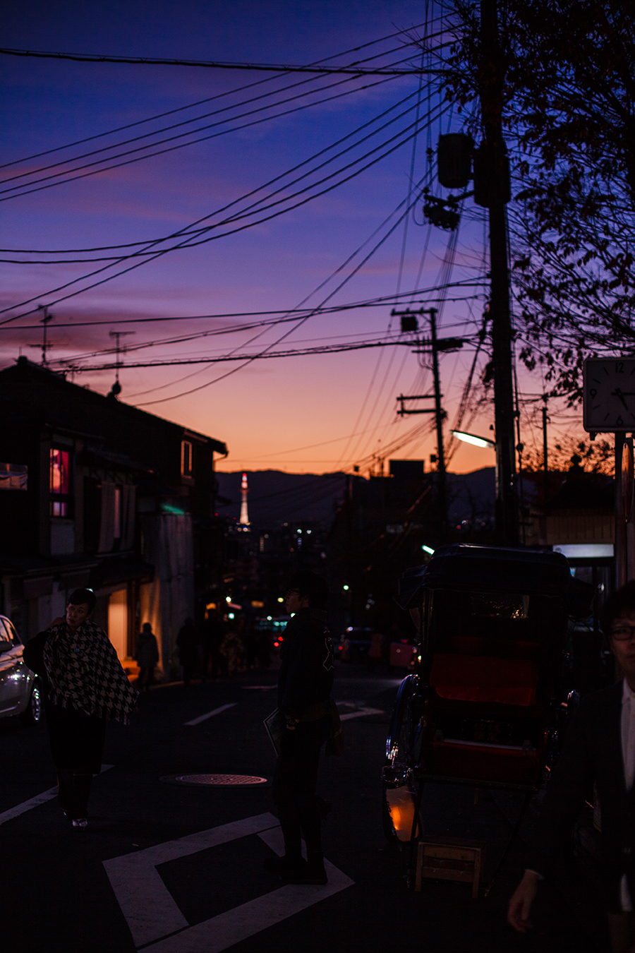 Sunset at Higashiyama, Kyoto Japan.